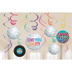 Good Vibes Swirl Decorations (Pack of 12)