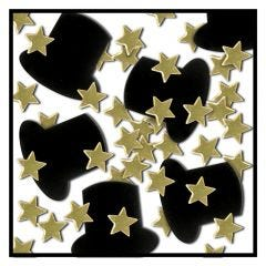 Top Hat and Stars Confetti/Table Scatters