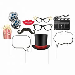 Hollywood Photo Booth Props (Pack of 10)