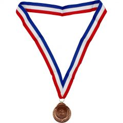 Metal Bronze 3 Medal with Ribbon