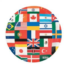 International Flags Small Paper Plates (Pack of 8)