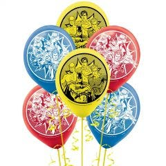 Justice League Heroes Unite Balloons (Pack of 6)