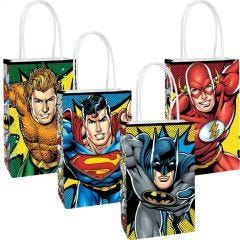Pack of 8 Justice League Create Your Own Lolly/Treat Bags.
