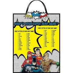 Justice League Heroes Unite What's Your Super Hero Name Sign
