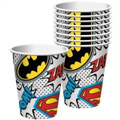 Justice League Heroes Unite Paper Cups (Pack of 8)