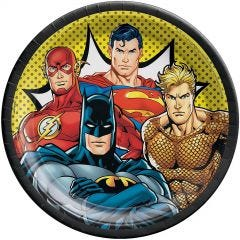 Justice League Heroes Unite Large Paper Plates (Pack of 8)