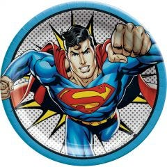 Superman Heroes Unite Large Paper Plates (Pack of 8)