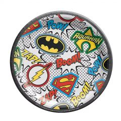 Justice League Heroes Unite Small Paper Plates (Pack of 8)