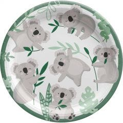 Koala Party Large Paper Plates (Pack of 8)