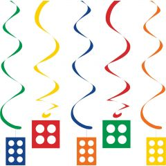 Block Party Swirl Decorations (Pack of 5)