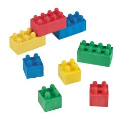 Block Party Erasers (Pack of 12)