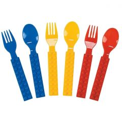 Block Party Plastic Cutlery (Pack of 16)