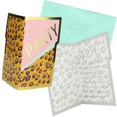 Leopard Pizazz Party Invitations (Pack of 8)