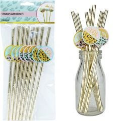 Leopard Pizazz Paper Straws (Pack of 8)
