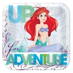 Ariel The Little Mermaid Dream Big Small Paper Plates (Pack of 8)