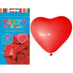 Heart Shaped Balloons (Pack of 6)