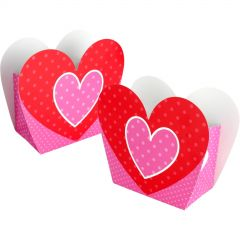 Sweet Heart Lolly/Treat Boxes (Pack of 8)
