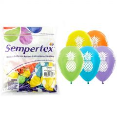 Tropical Pineapple Assorted Balloons (Pack of 25)