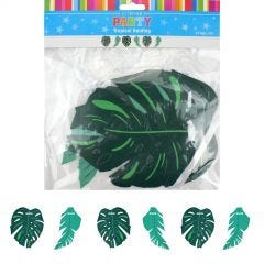 Tropical Palm Leaves Garland Banner