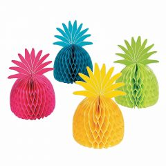 Bright Pineapple Honeycomb Centrepieces (Set of 4)
