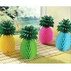 Pack of 4 Pineapple Honeycomb Centrepieces