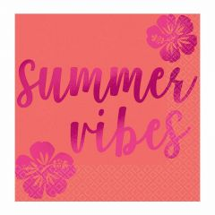Summer Vibes Small Napkins / Serviettes (Pack of 16)