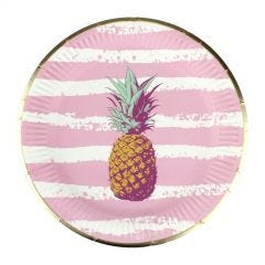 Pink Troppo Small Paper Plates (Pack of 12)