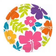 Summer Hibiscus Small Paper Plates (Pack of 8)
