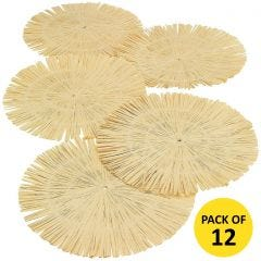 Round Raffia Place Mats (Pack of 12)