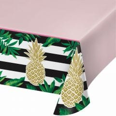 Golden Pineapple Small Paper Plates (Pack of 8)