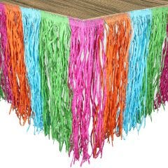 Multi-Coloured Artificial Grass Table Skirt