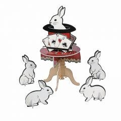 Magical Party White Rabbits Centrepiece