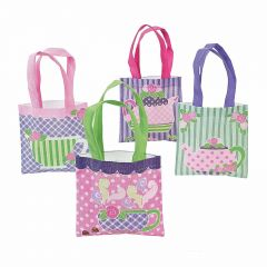 Mini Tea Party Tote Bags (Pack of 12)