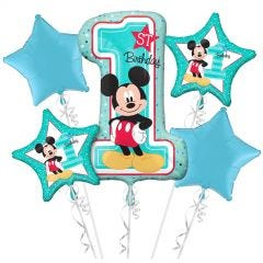 Mickey Mouse Fun To Be One Helium Balloon Bouquet