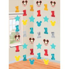 Mickey Mouse Fun To Be One String Decorations (Pack of 6)