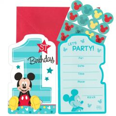 Mickey Mouse Fun To Be One Party Invitation Set (Pack of 8)