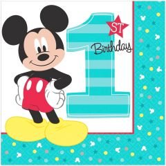 Mickey Mouse Fun To Be One Large Napkins / Serviettes (Pack of 16)