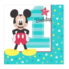Mickey Mouse Fun To Be One Small Napkins / Serviettes (Pack of 16)