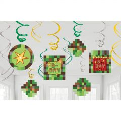 TNT Party Swirl Decorations (Pack of 12)