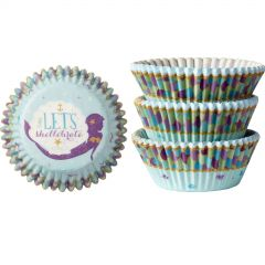 Mermaid Wishes Baking Cups (Pack of 75)
