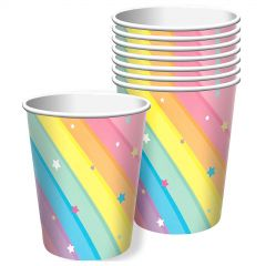 Magical Rainbow Birthday Paper Cups (Pack of 8)