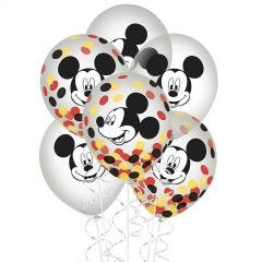 Mickey Mouse Forever Confetti Balloons (Pack of 6)