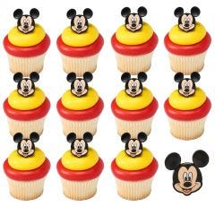 Mickey & Minnie Mouse Cupcake Rings (Pack of 12)