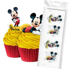Mickey Mouse Edible Wafer Cupcake Toppers (Pack of 16)