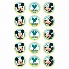 Mickey Mouse Edible Cupcake Decorations (Pack of 15)