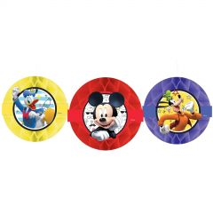 Mickey Mouse on the Go Honeycomb Decorations (Pack of 3)