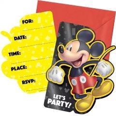 Mickey Mouse Forever Deluxe Invitation Set (Pack of 8)