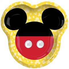 Mickey Mouse Forever Shaped Large Paper Plates (Pack of 8)