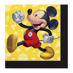 Mickey Mouse Forever Small Paper Napkins / Serviettes (Pack of 16)