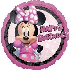 Minnie Mouse Forever Happy Birthday Helium Balloon
